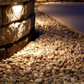 Palmer, MA, Stone Walkway Lighting, Uplighting