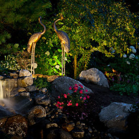 South Hadley, MA, Garden Lighting, Uplighting, Landscape Lighting
