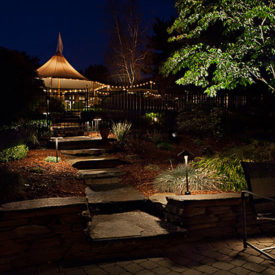 Glastonbury, CT, Pathway Lighting, Landscape Lighting, Uplighting