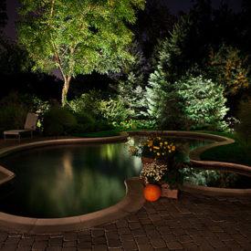Stafford, CT, Pool Lighting, Landscape Lighting, Illumascape Lighting