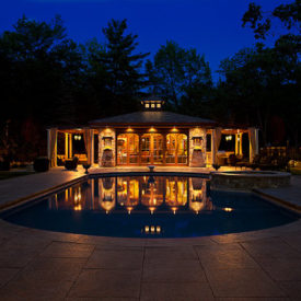 Pool House Lighting, Longmeadow MA, Outdoor Lighting, Landscape Lighting
