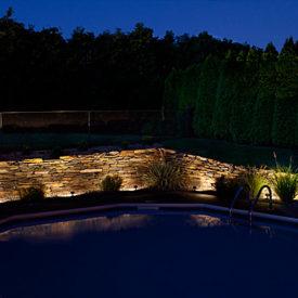 Outdoor Lighting, Pools, Uplighting, Ludlow MA