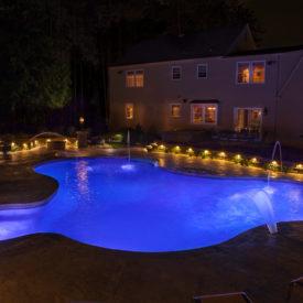 Granby, CT, Illumascape Lighting, Outdoor Lighting, Pool Lighting